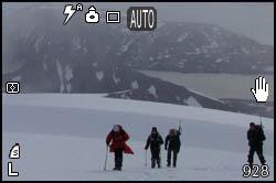 Camminata sulla neve